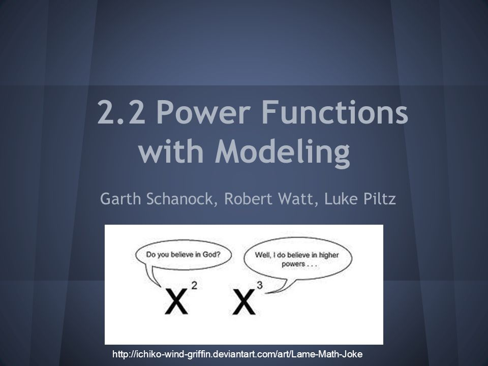 2.2 Power Functions with Modeling Garth Schanock, Robert Watt, Luke Piltz