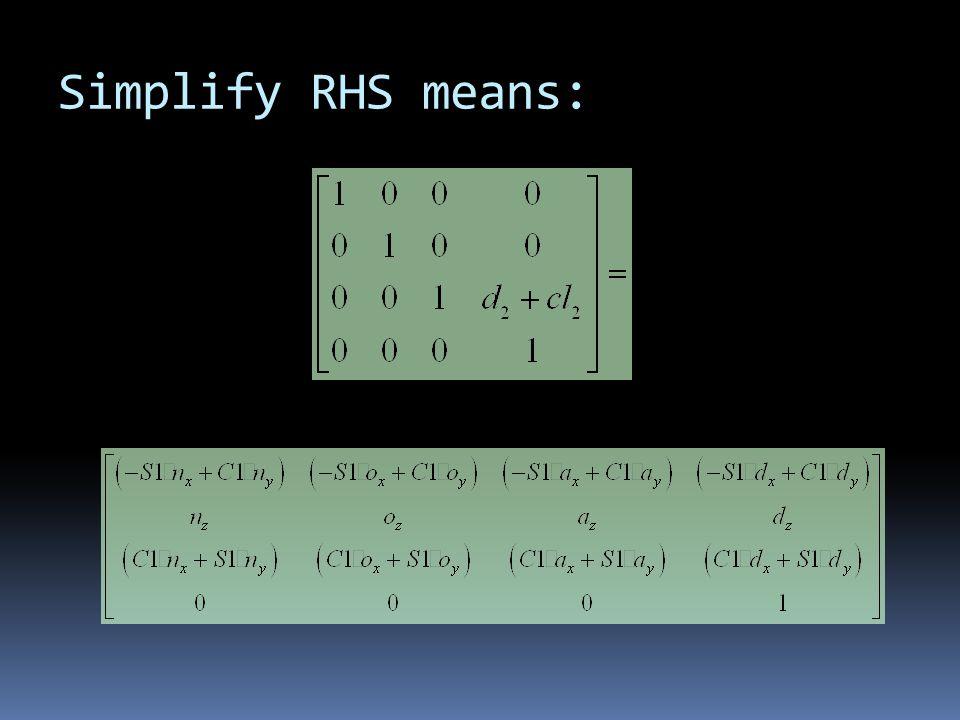 Simplify RHS means: