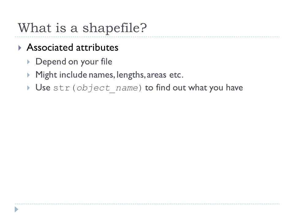 What is a shapefile.