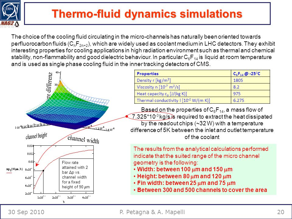 Thermo-fluid dynamics simulations 30 Sep P. Petagna & A.