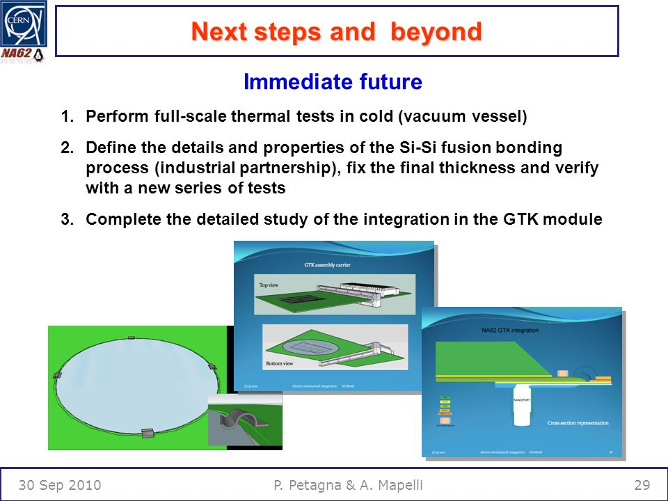 Next steps and beyond 30 Sep P. Petagna & A.