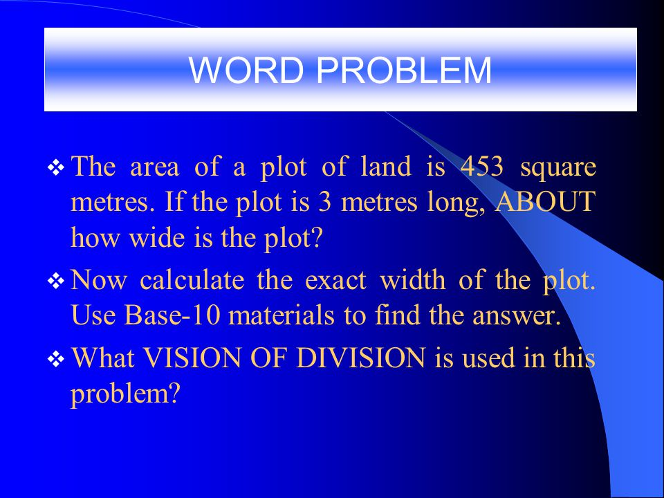 B4.4 What division problem is being modeled in the picture shown to you by the teacher.
