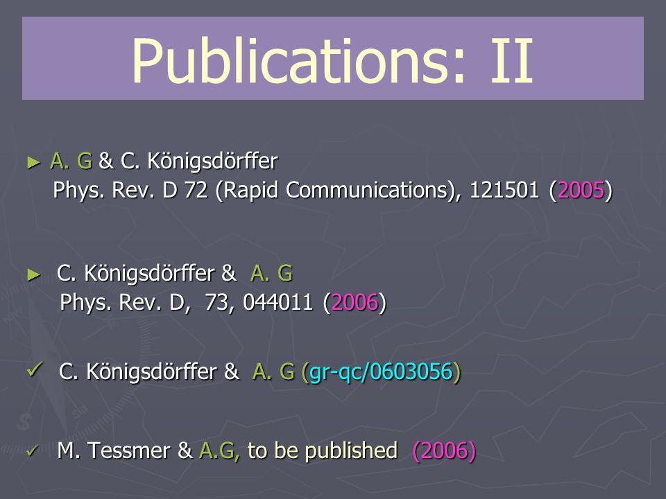 Publications: II ► A. G & C. Königsdörffer Phys.