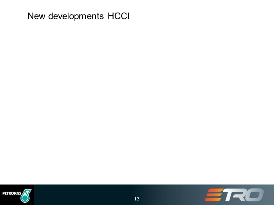 New developments HCCI 13