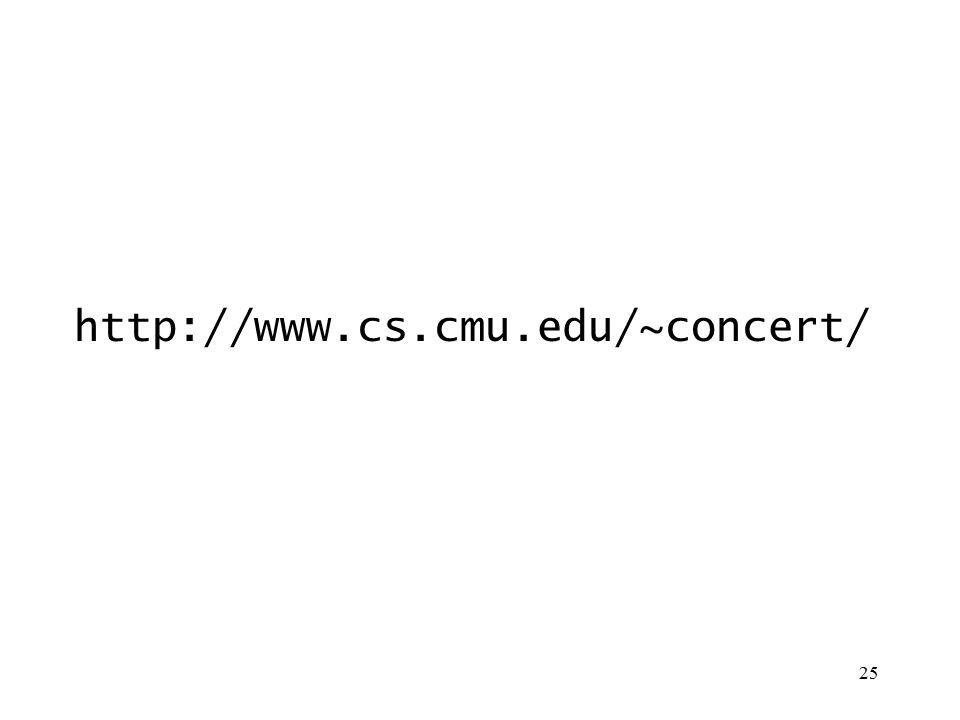 25 http://www.cs.cmu.edu/~concert/