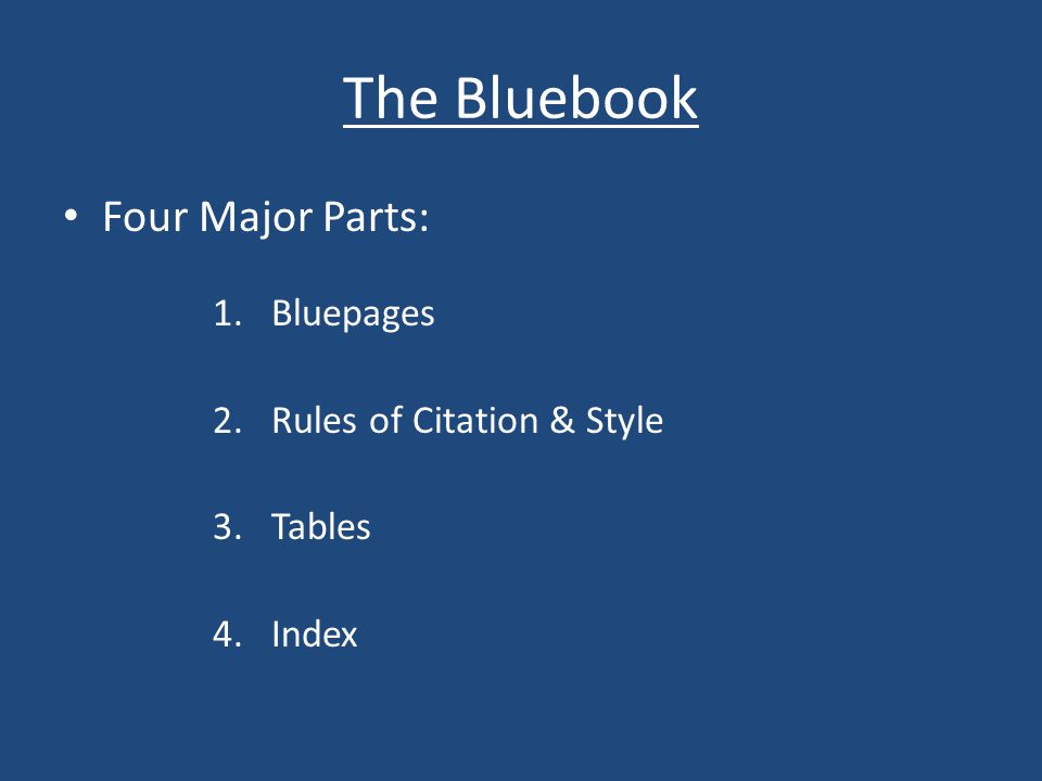 Basic Tips Remember the function of a citation Look up every rule, every time When in doubt, start with the Index Read the entire rule at least once Tables contain rules DON'T COPY A DATABASE CITATION!