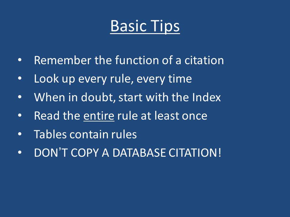 Common Errors: Rule 18 – Internet Sources Direct citations vs.