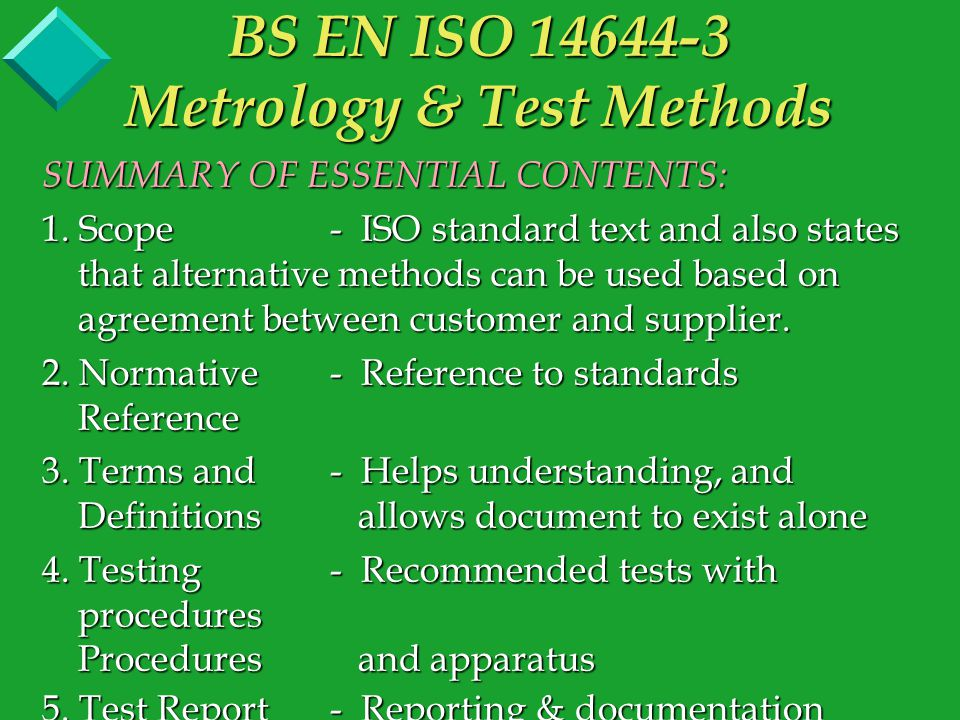 Annex C (Informative) - Test Instruments Describes test apparatus that should be used for the corresponding recommended tests in Annex B.