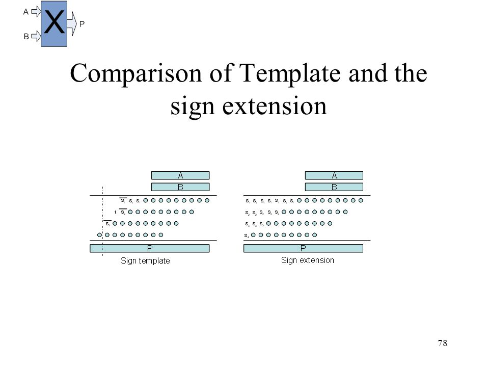 78 Comparison of Template and the sign extension
