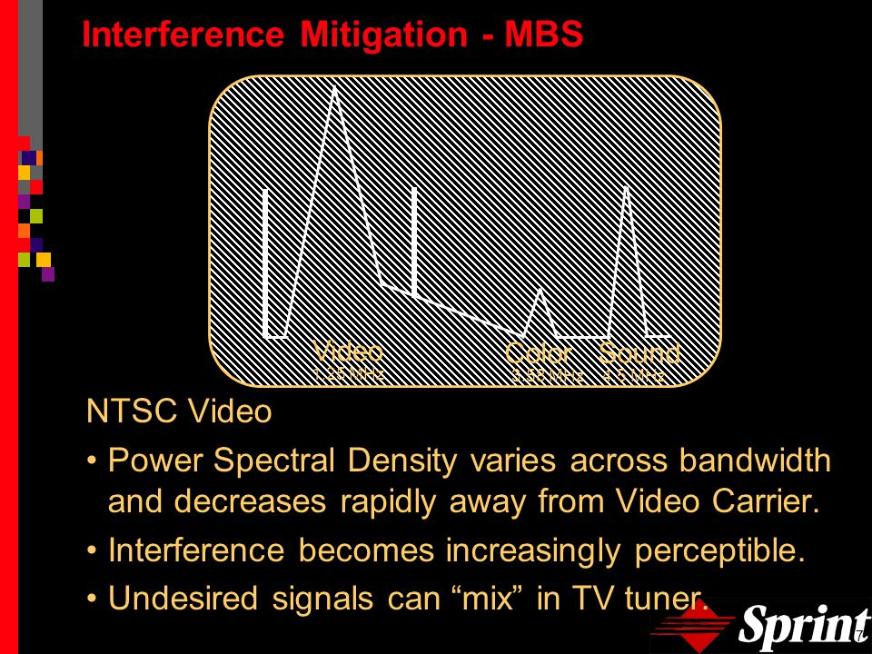 8 Interference Mitigation - MBS Guard Bands Provide for 6 MHz separation in the MBS.