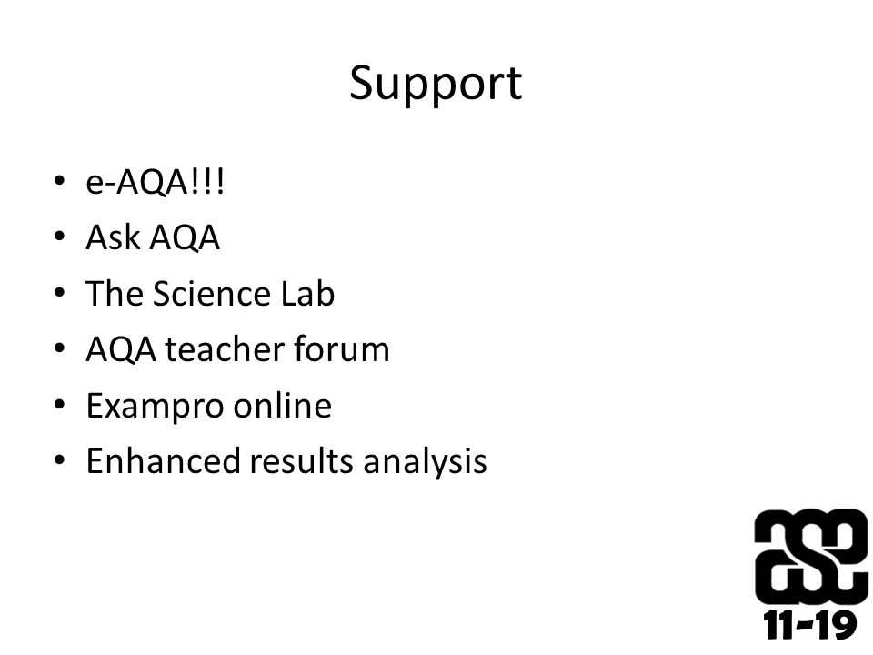 11-19 Support e-AQA!!.