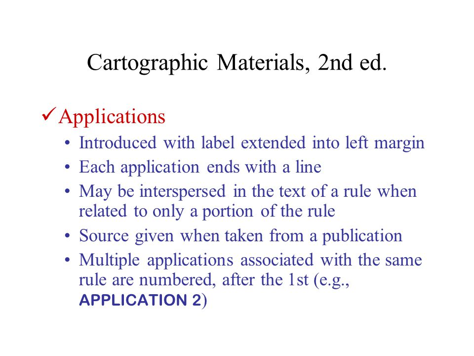 Cartographic Materials, 2nd ed. 1B2.