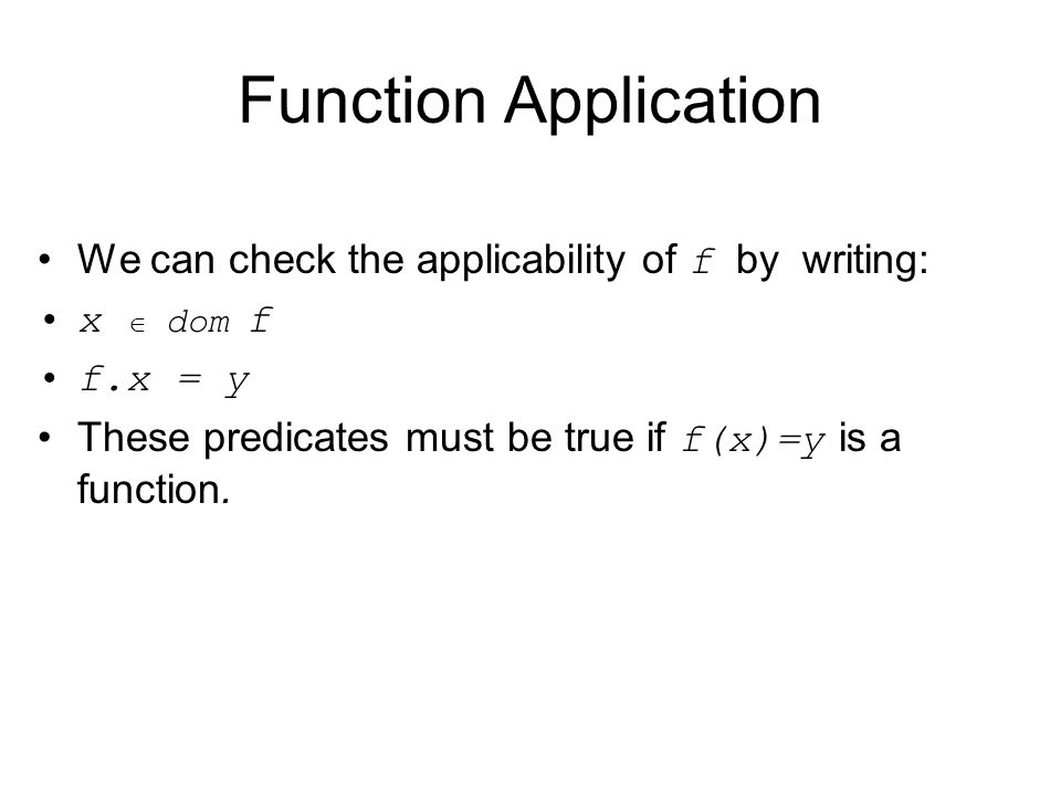 Partial and Total Functions If the identyNo function is a partial function there may be values in the source that are not in the domain (some people may have no identity number).