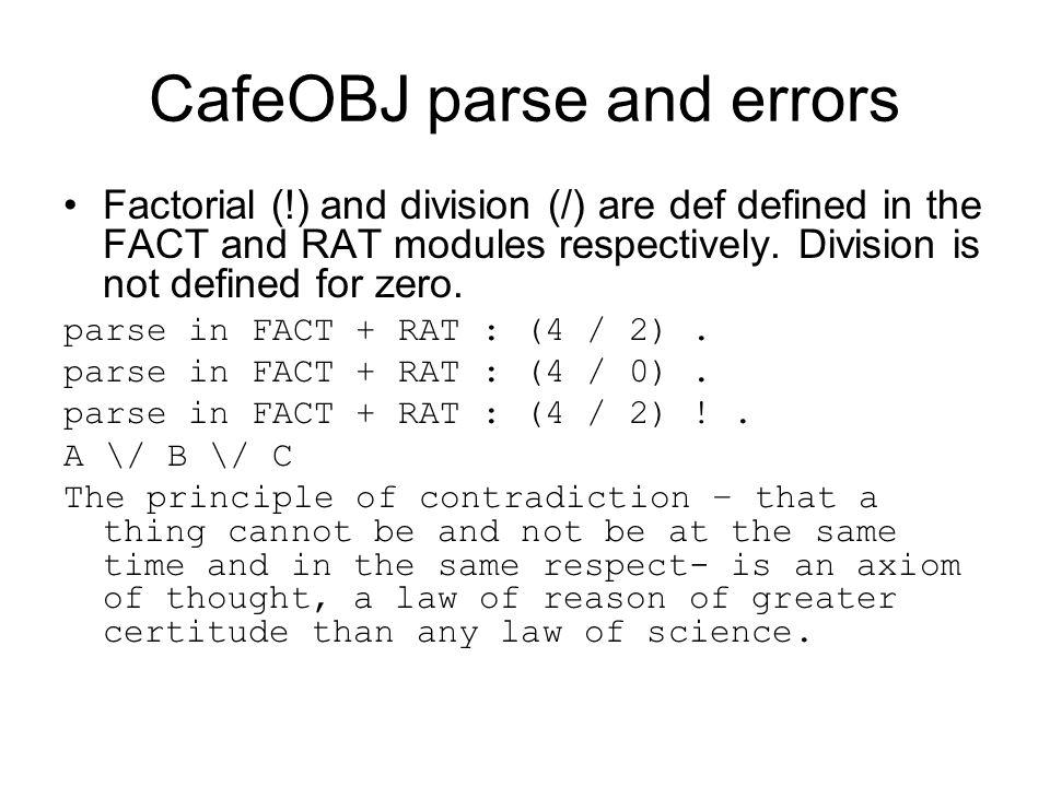 CafeOBJ Error sorts Above the error super-sort ?Elt for the Elt.