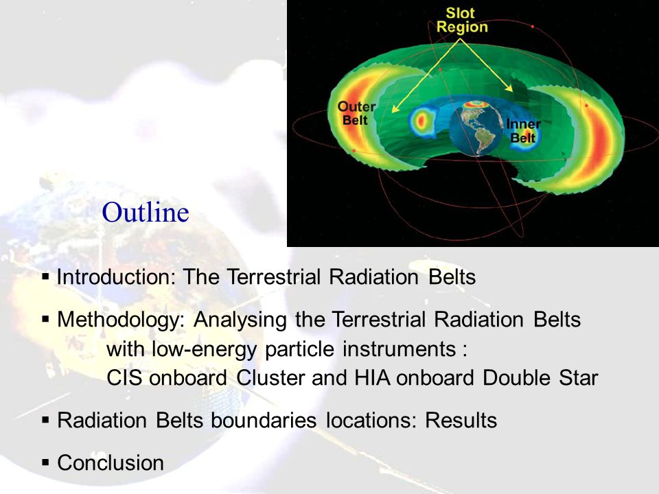 Omnidirectional integrated proton fluxes (cm -2 s -1 ) trapped in the radiation belt.
