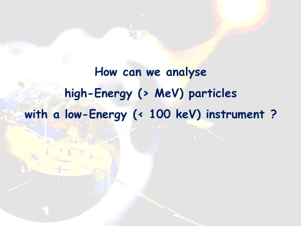 i+i+ Radiation Belt penetrating particle Accumulated wall thickness, for HIA onboard Cluster: Typically 4 mm Al (2 mm minimum) For HIA onboard Double Star: additional 4 mm Al