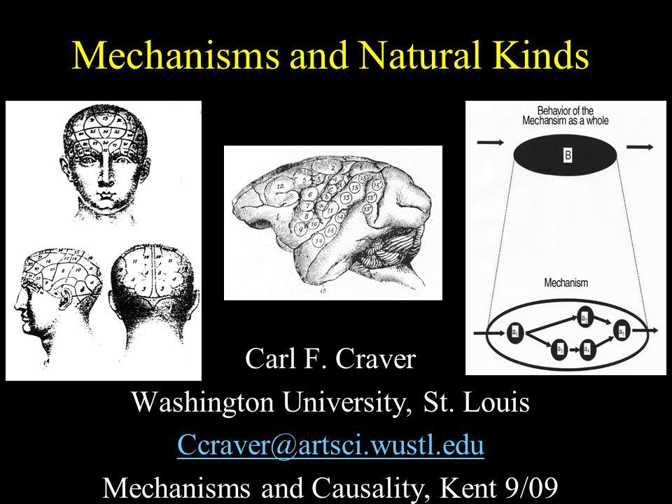 Mechanisms and Natural Kinds Carl F. Craver Washington University, St. Louis Ccraver@artsci.wustl.edu Mechanisms and Causality, Kent 9/09