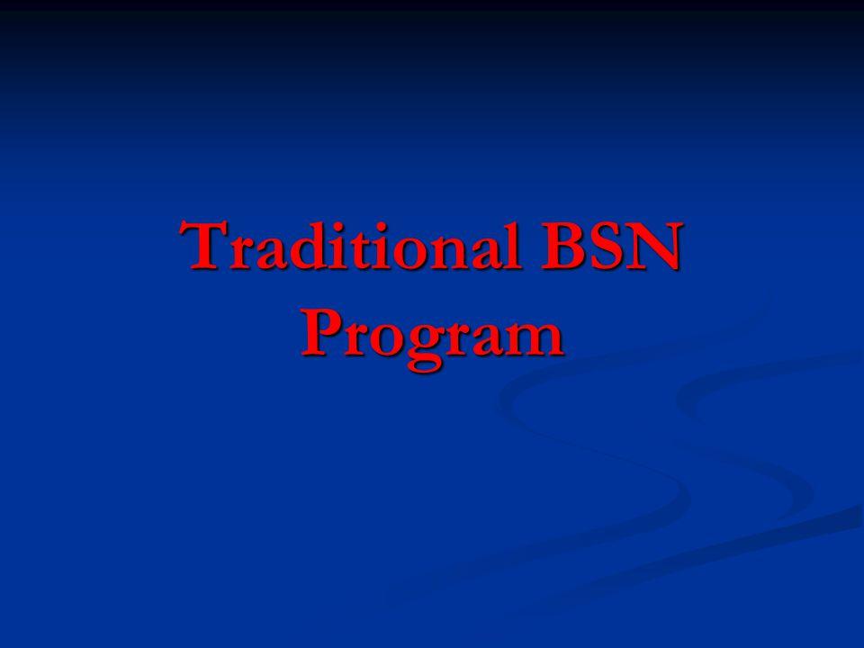 Traditional BSN Program