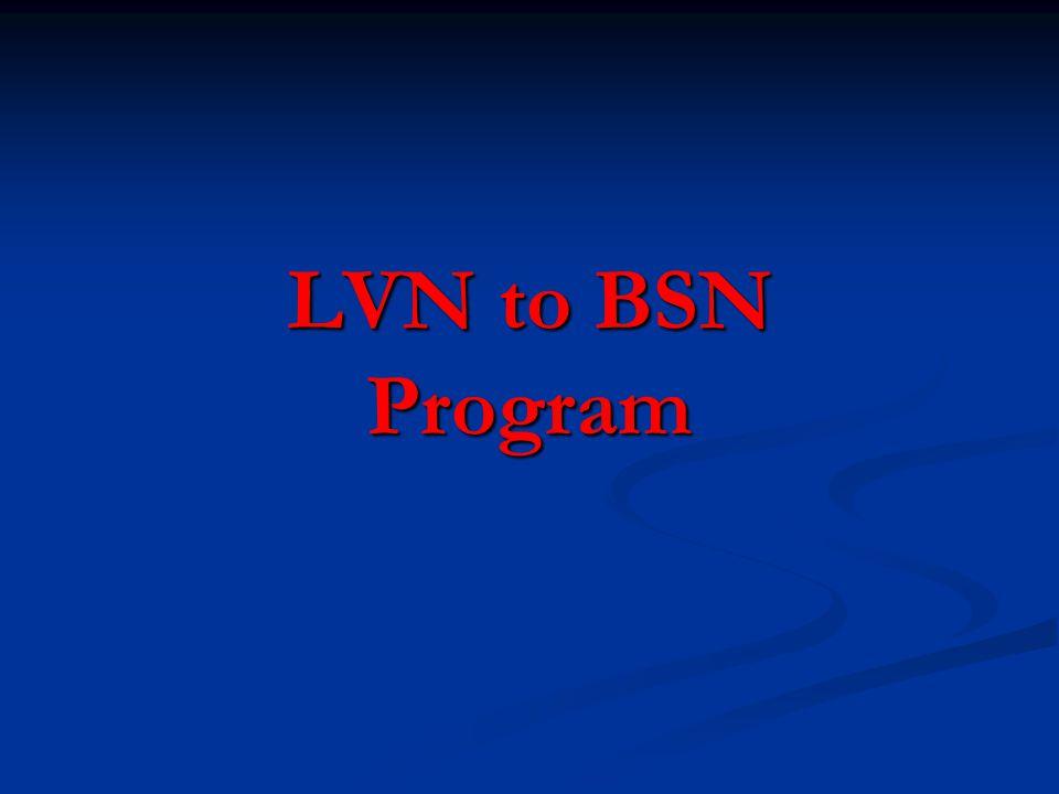 LVN to BSN Program