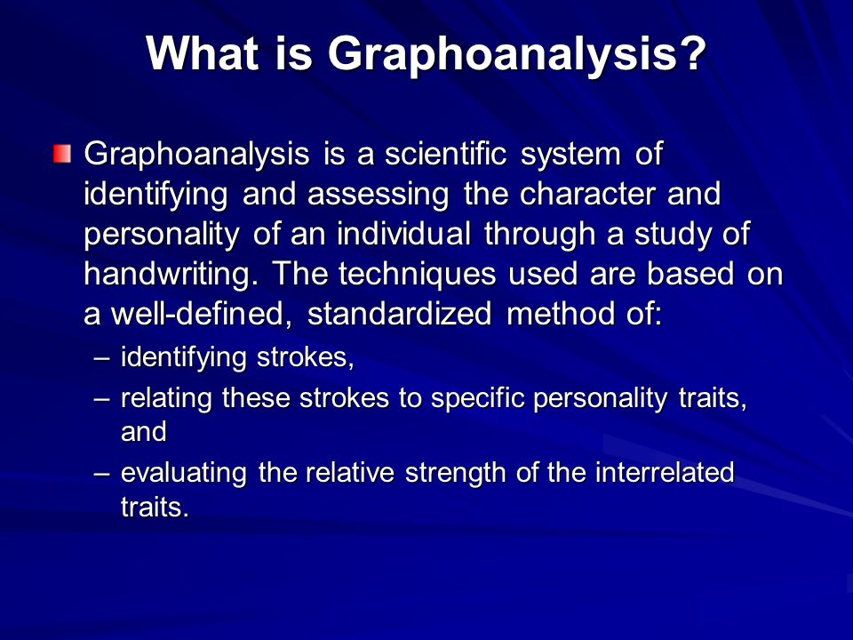What is Graphoanalysis.