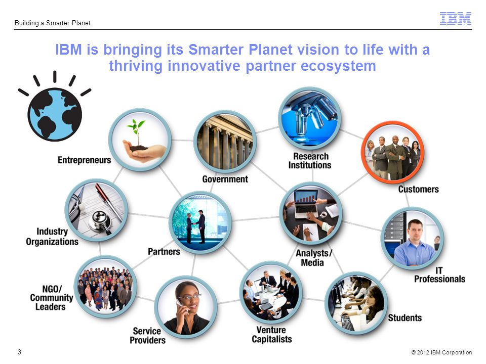 © 2012 IBM Corporation Building a Smarter Planet 3 IBM is bringing its Smarter Planet vision to life with a thriving innovative partner ecosystem
