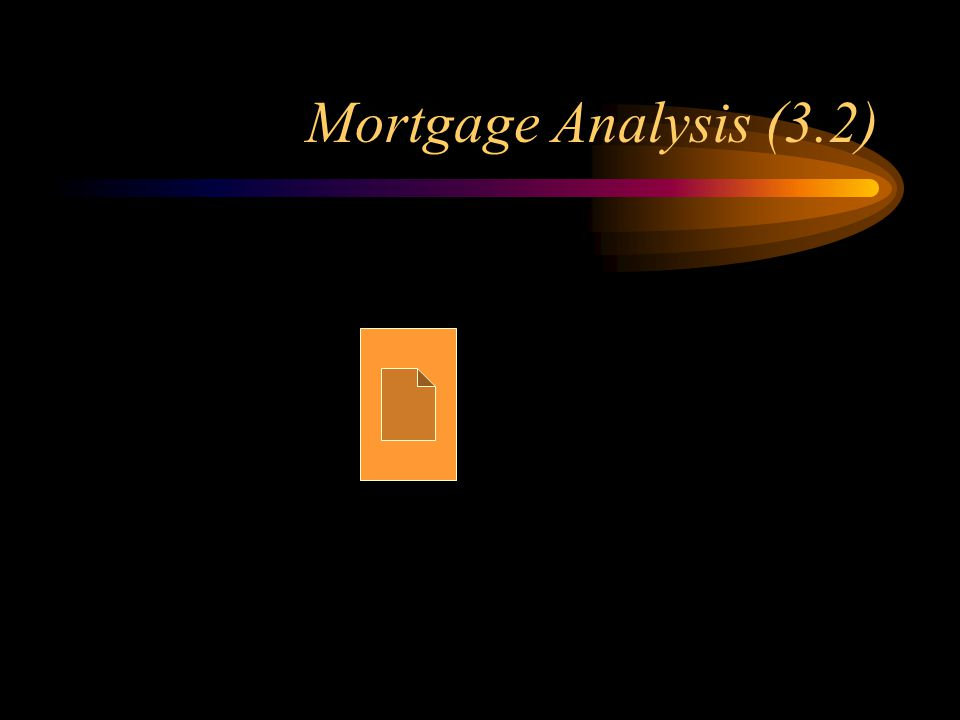 Mortgage Analysis (3.2)