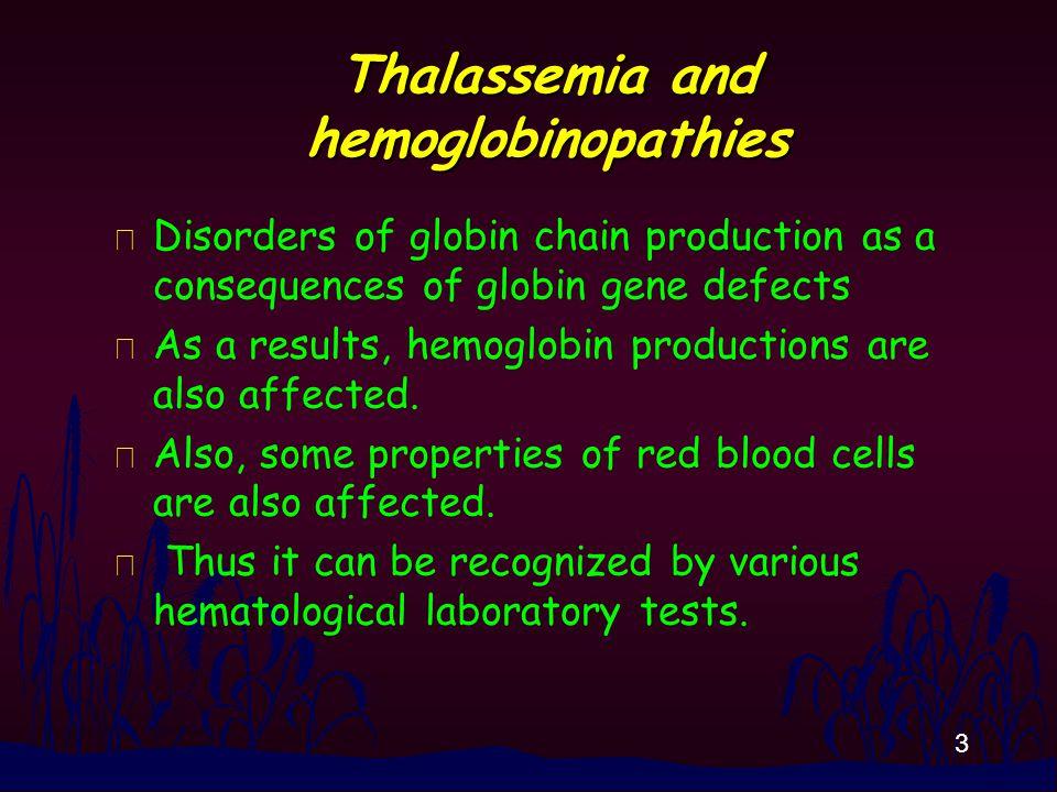 44 Specimens Hb in the solution or hemolysate .