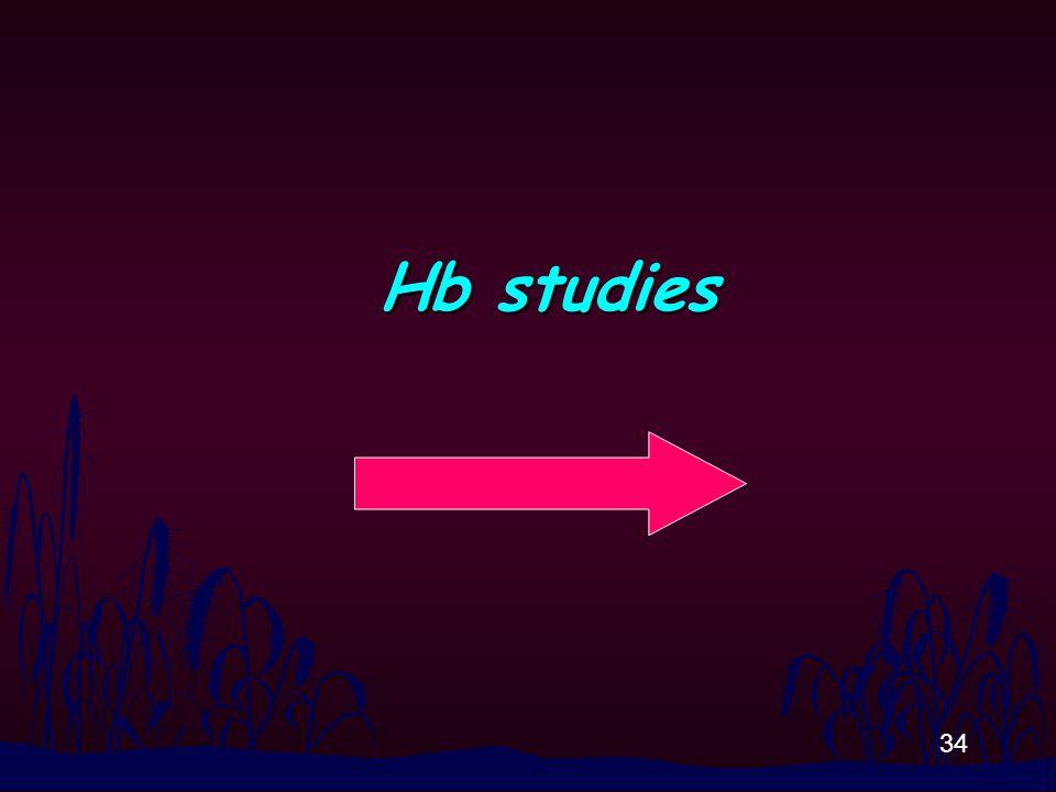 34 Hb studies