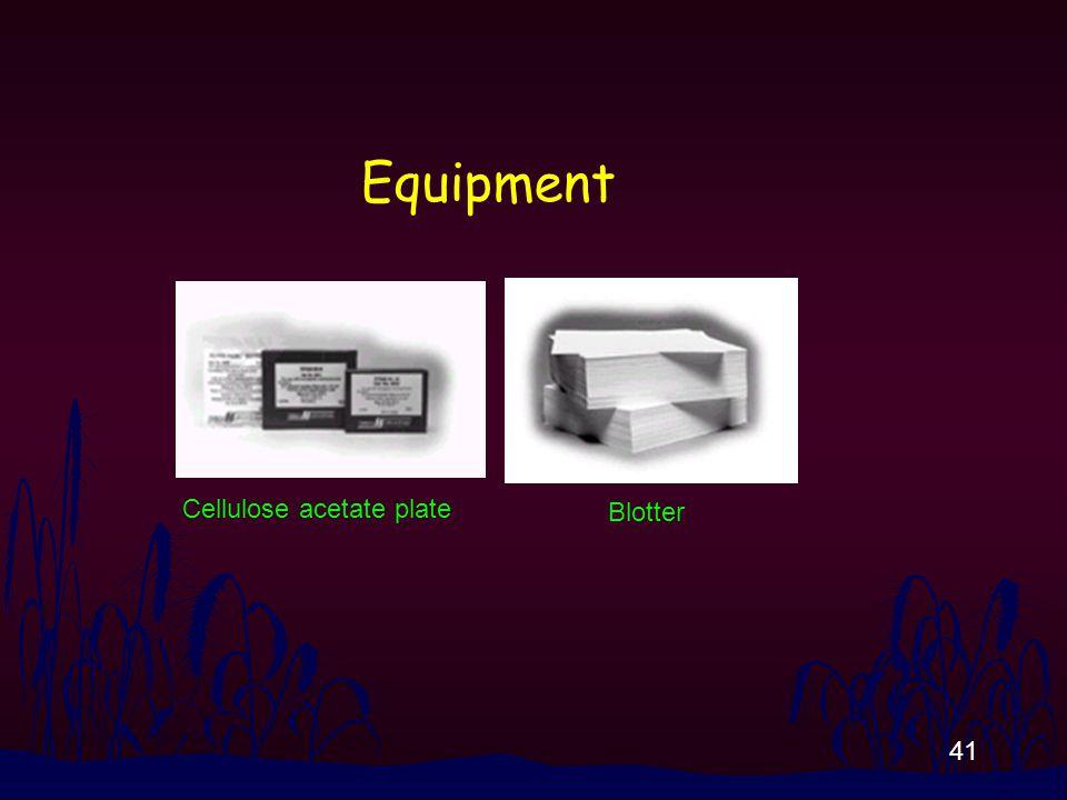 41 Equipment Blotter Cellulose acetate plate