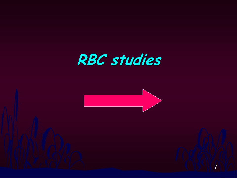 8 CBC n CBC (automate is a must) for red blood parameters including Hb, Hct, RBC indicies and RBC morphology examination (already trained) n Hb H inclusion body test