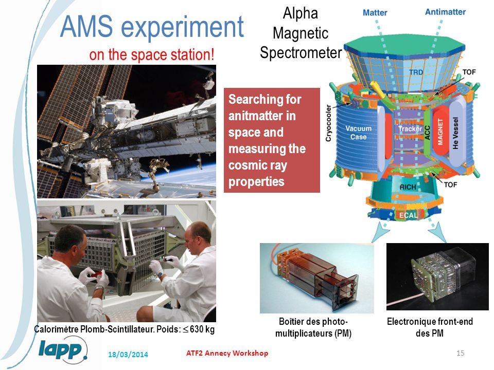 ATF2 Annecy Workshop15 Calorimètre Plomb-Scintillateur.