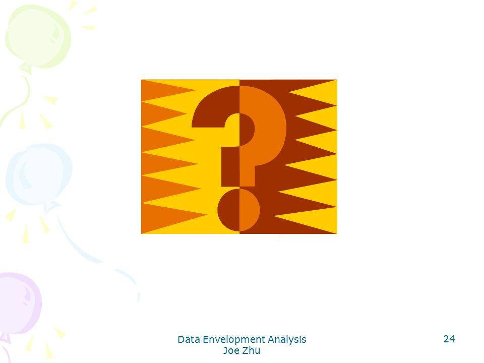 Data Envelopment Analysis Joe Zhu 24