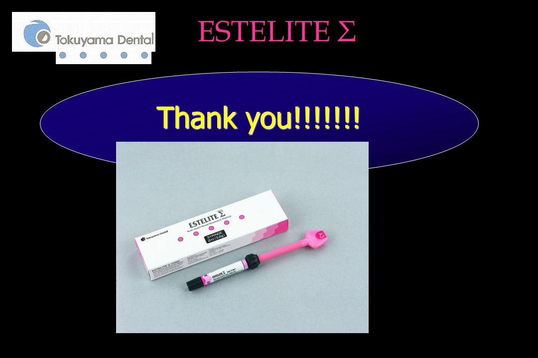 Thank you!!!!!!! Thank you!!!!!!! ESTELITE Σ