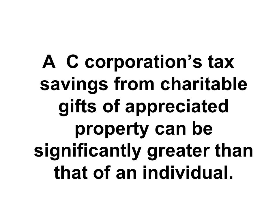 CORPORATE TAXATION SUBCHAPTER C Corporation Corporation pays corporate income tax Shareholder Shareholder pays tax on dividend distributions SUBCHAPTER S Corporation Corporation pays no corporate income tax Shareholder No tax on dividends, but shareholder reports corporation's income and deductions