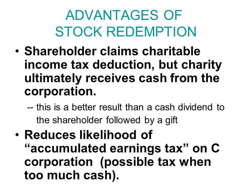 REDEMPTION HAZARDS #1 -- Pre-Arranged Sale.Rev Rul.