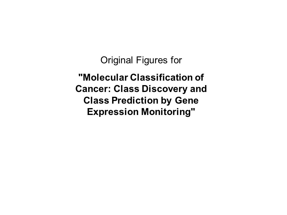 Original Figures for Molecular Classification of Cancer: Class Discovery and Class Prediction by Gene Expression Monitoring