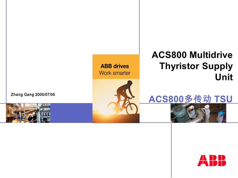 ACS800 Multidrive Thyristor Supply Unit ACS800 多传动 TSU Zhang Gang 2005/07/05