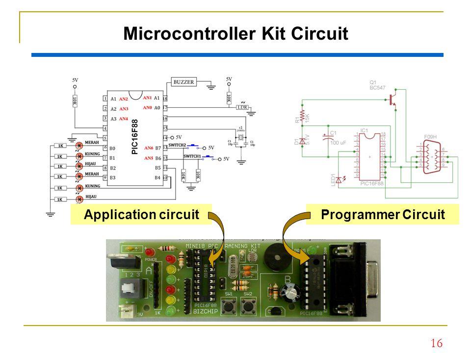 16 Microcontroller Kit Circuit Application circuitProgrammer Circuit