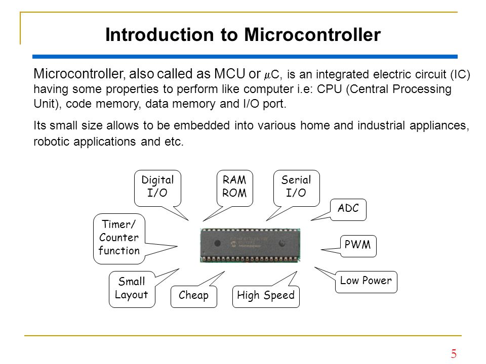 6 Microcontroller: Practical in Use After the Microcontroller is programmed, then it is ready to use in the application.