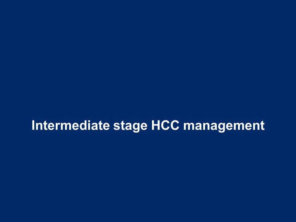 Intermediate stage HCC management