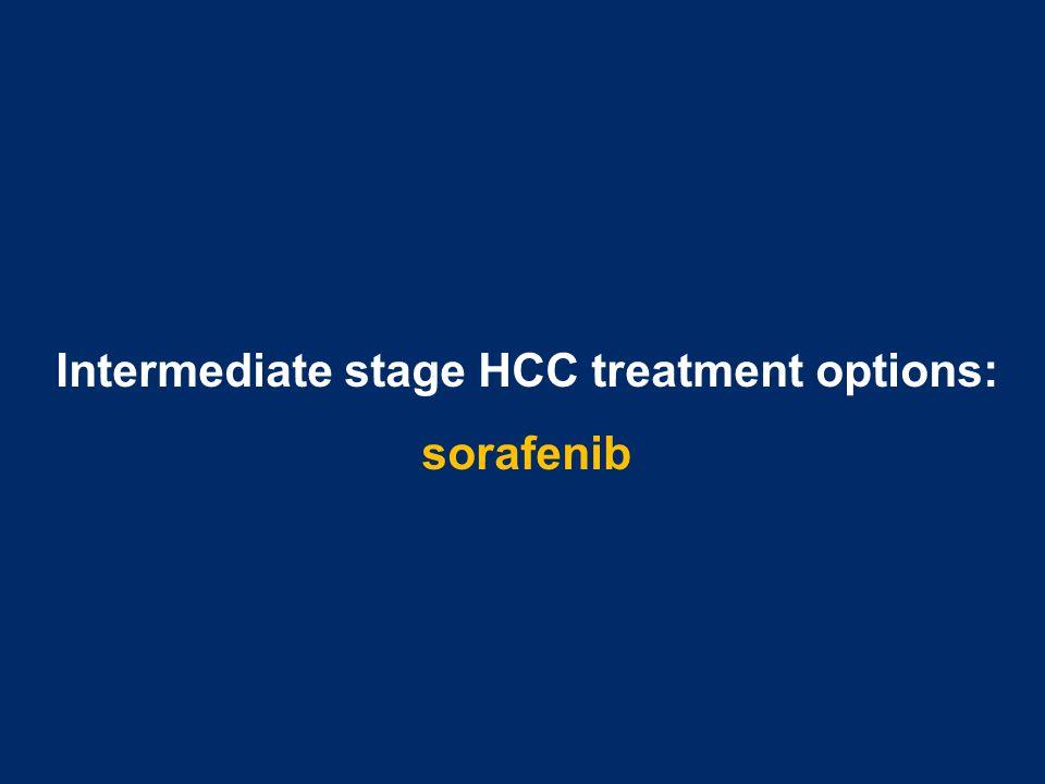 Intermediate stage HCC treatment options: sorafenib