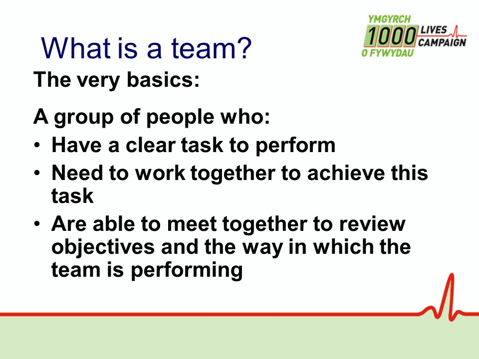 What is a team.