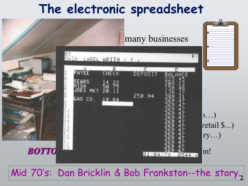 COMP 4—Power Tools for the Mind 1 Power Tools Spreadsheets What we'll cover for this lecture topic: –The paper worksheet...