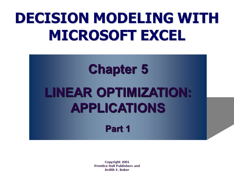 Introduction Several specific models (which can be used as ____________for real-life problems) will be examined in this chapter.