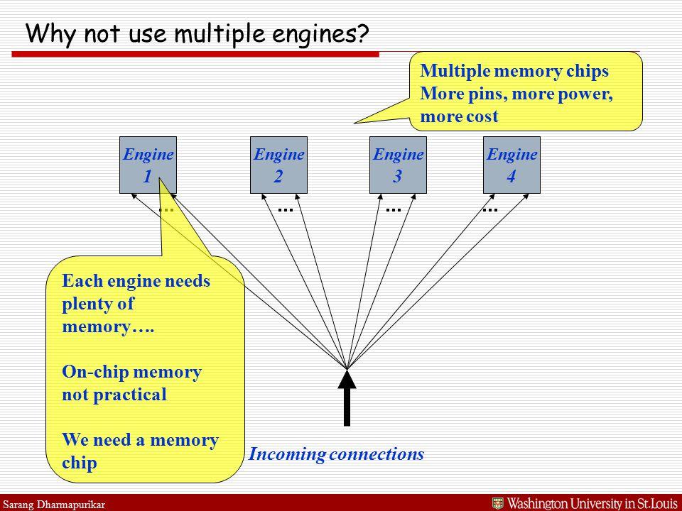 Sarang Dharmapurikar Why not use multiple engines.