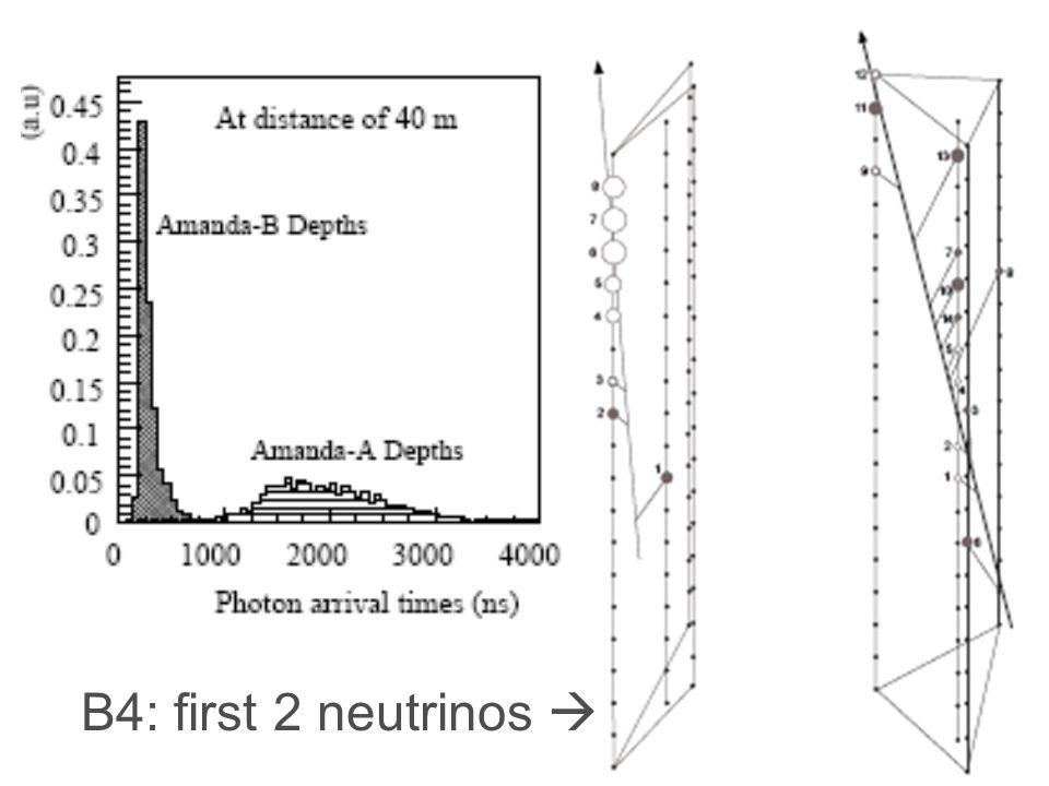 B4: first 2 neutrinos 