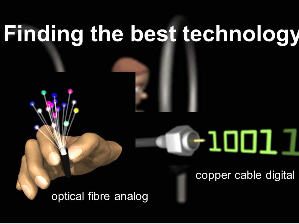 Finding the best technology copper cable digital optical fibre analog