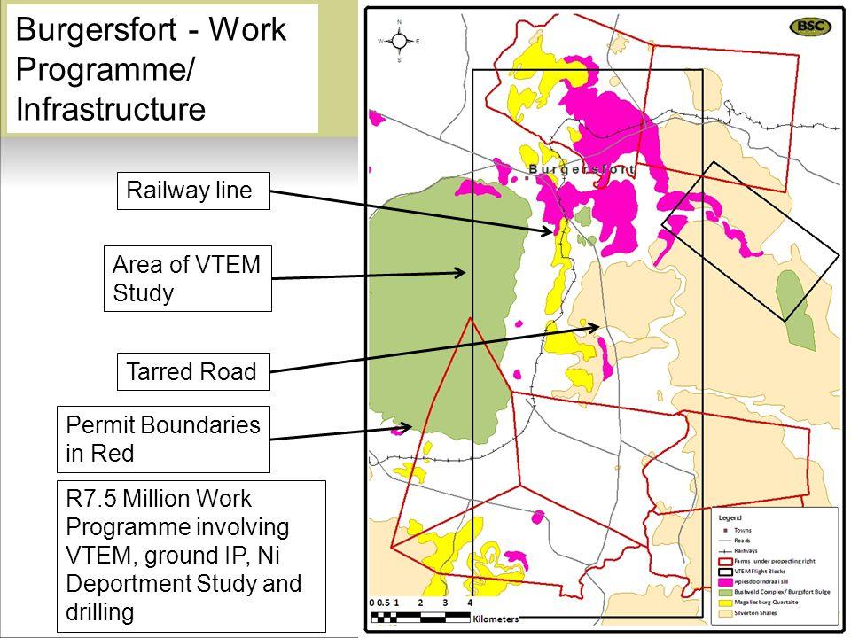 Burgersfort - Work Programme/ Infrastructure Tarred Road Railway line Permit Boundaries in Red Area of VTEM Study R7.5 Million Work Programme involvin