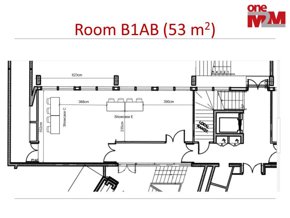 Room B1AB (53 m 2 )