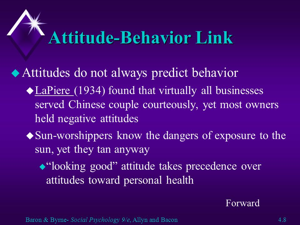 Affective Approach to Attitude Change u Inducing fear - works best when you also offer advice or coping strategy (how to avoid danger) u cigarette smoking u condom usage u drinking and driving u Inducing good feelings u enhance positive thinking u unhappy people think more before making decisions u rose colored glasses u associate message with good feelings